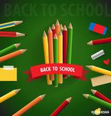 Välkommen tillbaka till skolan, vektor illustration. — Stockvektor