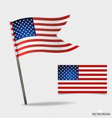 American Flag. Vector illustration. — Stock Vector