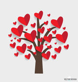 Abstract tree with hearts. Vector Illustration. — Stock Vector