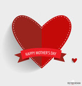 Happy Mothers's Day, paper hearts. Vector illustration. — Stock Vector