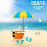 Summer holiday background. Vector illustration. — Stock Vector #47043875