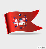 Happy independence day. American Flag design, vector illustratio — Vecteur
