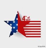 Happy independence day card United States of America. American F — Stock Vector