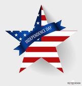 Happy independence day card United States of America. American F — Vecteur