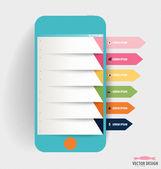 Šablona návrhu Infographic. Touchscreen zařízení s barevným — Stock vektor