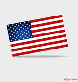 Happy independence day. American Flag design, vector illustratio — Stock Vector