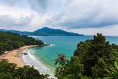 Aerial shot of  Tropical island — Stock Photo