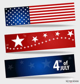 Happy independence day card United States of America. American F — Vector de stock