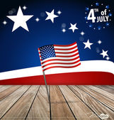 4th of July, Happy independence day United States of America. Ve — Stock Vector