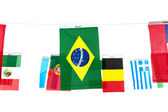 Flags for soccer championship 2014 — Stock Photo