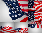 Collection of American Flag — Stock Photo