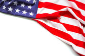 American flag on white background — Stock Photo