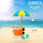 Summer holiday background. Vector illustration. — Stock Vector