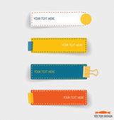 Papéis de nota bonito, elementos de trabalho de negócios para web design, mob — Vetorial Stock
