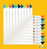 Moderna formgivningsmall papper med band, infographics backg — Stockvektor