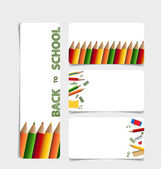 Cute note papers, welcome back to school. Vector illustration. — Stock Vector