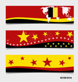 Belgium, Flags concept design. Vector illustration. — Stock Vector