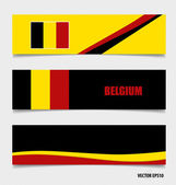 ベルギー、コンセプト デザインをフラグします。ベクトル イラスト. — ストックベクタ