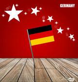 ドイツ、コンセプト デザインをフラグします。ベクトル イラスト. — ストックベクタ