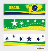 Brazil, Flags concept design. Vector illustration. — Stock Vector