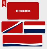 Netherlands, Flags concept design. Vector illustration. — Stock Vector