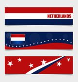 Netherlands, Flags concept design. Vector illustration. — Stock Vector