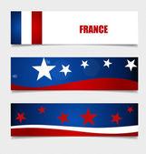 フランス、コンセプト デザインをフラグします。ベクトル イラスト. — ストックベクタ