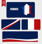 France, Flags concept design. Vector illustration. — Stock Vector