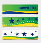 Brazil , Flags concept design. Vector illustration. — Stock Vector