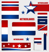 Collection of Netherlands Flags, Flags concept design. Vector il — Stock Vector