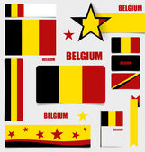 Collection of Belgium Flags, Flags concept design. Vector illust — Stock Vector