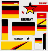 Collection of Germany Flags, Flags concept design. Vector illust — Stock Vector