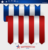 Happy independence day card United States of America. Ribbon des — Stock Vector
