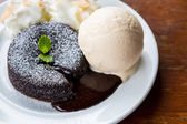 Chocolate lava cake — Stock Photo