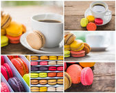 Collection of French colorful macarons — Stock Photo