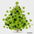 Abstract tree with green leaves on white background. — Stock Vector #51576153