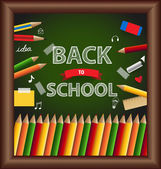 Welcome back to school, vector illustration. — Stock Vector