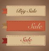 Sale Coupon, voucher, tag. Vintage Style template Design vector  — Stockvektor