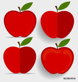 Red apples. Vector illustration. — Stock Vector
