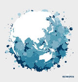 Modern  blue globe. Vector Illustration. — 图库矢量图片