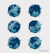 Collection of modern globe. Vector Illustration. — Stock Vector