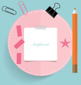 Cute note papers, ready for your message. Vector illustration. — Stock Vector