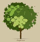 Abstract tree. Vector Illustration. — Stock Vector