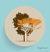 Tree silhouettes. Vector illustration. — Stock Vector