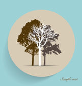 Tree silhouettes. Vector illustration. — Stock Vector