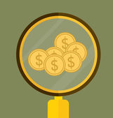 Money on hand. Modern Flat design vector illustration concept. — Stock Vector