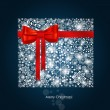 Christmas background with gift box made from snowflakes. Vector — Stock Vector #51580191