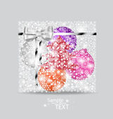 Christmas background with gift box made from snowflakes. Vector  — Stockvektor
