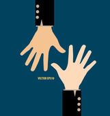 Hands. Vector illustration. — Stock Vector
