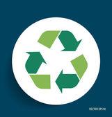 Recycle symbol. Vector symbol on the packaging, vector Illustrat — Stockvektor